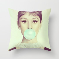 Audrey H Throw Pillow by LuxuryLivingNYC