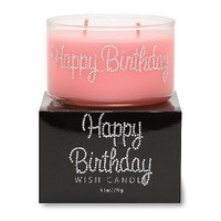 Primal Elements Happy Birthday Wish Candle, 9.5 Ounce