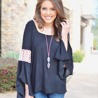 Closet Candy Boutique · Elan Come Away With Me Top - Black