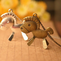 Cute Horse Necklace,3D Horse Necklace,Beautiful Gift,Christmas Gift,Friend Gift---N027