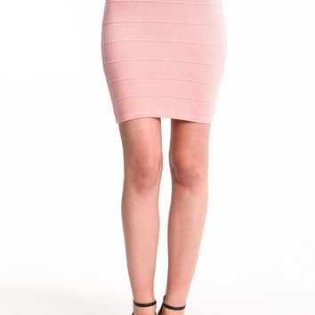 High Waist Knit Bandage Skirt
