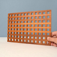 Vintage Dansk Teak Rectangular Lattice Trivet - Designed by Jens Quistgaard