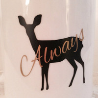 "Harry Potter inspired ""always"" coffee mug. Snape & Lilly patronus"