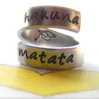 Hakuna Matata//The original twist aluminum ring grad cap