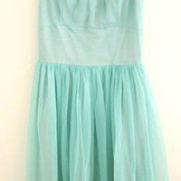 Vintage Prom Dress Aqua by dragonflyvintage on Sense of Fashion