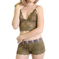 FOXERS - Olive Lace Camisole