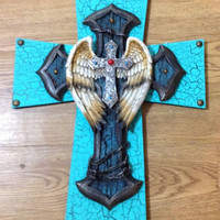 30%OFFSALE NEW Large Angel Wing Cross