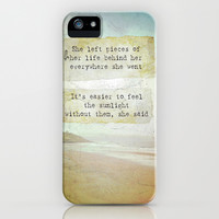She Left Pieces iPhone & iPod Case by Ally Coxon