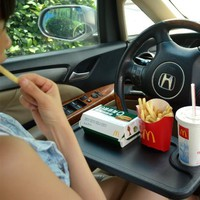 Car Laptop/Eating Steering Wheel Desk (Black)