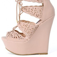 Dollhouse Bittersweet Perforated Wedges | MakeMeChic.com