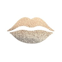 GATSBY GOLD LIPS Stretched Canvas by Monika Strigel
