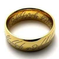 The One Ring Lord of the Rings Replica Ring Size 10