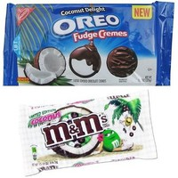 Limited Edition Coconut M&ms + Coconut Delight Oreo Fudge Creme Cookies