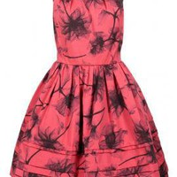 Ohanzee Print Faille Dress