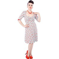 "Cherry ""Vivienne"" Dress by Sourpuss Clothing (Red)"
