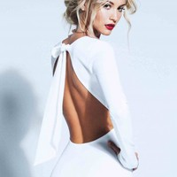 Lurelly's Backless Bow Dress