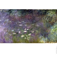 Waterlilies: Morning, 1914-18 (Right Section) Giclee Print by Claude Monet at Art.com