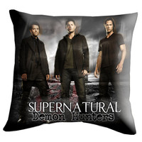"Dean Sam Castiel Supernatural Pillow Cover, Pillow case, Throw Bed Bedroom, Size 18"" x 18"""