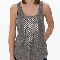 Daytrip Foil Chevron Tank Top