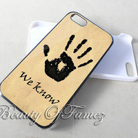 Skyrim Dark Brotherhood We Know for iPhone 4, iPhone 4s, iPhone 5, iPhone 5s, iPhone 5c Samsung Galaxy S3, Samsung Galaxy S4 Case