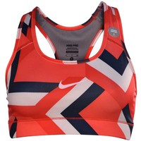 Nike Women's Dri-Fit Pro Printed Sports Bra-Coral Red/Multi