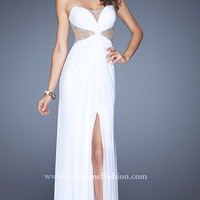 La Femme Strapless Dress with Slit