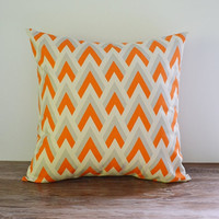22x22 Pillow Cover Decorative Pillows Orange Cushion cover