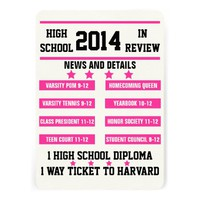 HIGH SCHOOL REVIEW GRADUATION PHOTO ANNOUNCEMENT