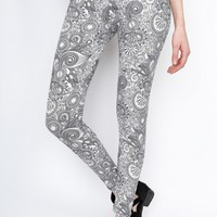 Gray Stained Glass Leggings