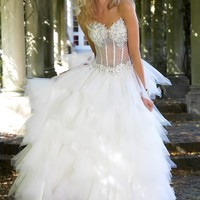 Jovani 90230 Ruffled Ball Gown