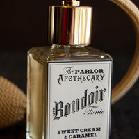 Boudoir Tonic - Sweet Cream Caramel Perfume - Vanilla Peach Sugar - Atomizer Bottle -1 oz