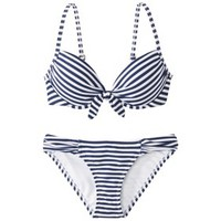 Xhilaration® Junior's 2-Piece Swimsuit -Stripe