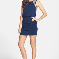 Way-In Embellished Ruched Blouson Dress (Juniors) (Online Only) | Nordstrom