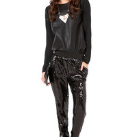Sequin Jogging Pants