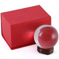 Crystal Ball - 50 mm - With Wooden Stand at Every Witch Way Online Shop