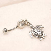 Adorable Turtle Belly Button Ring