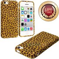 "myLife (TM) Yellow Cheetah Spots Design (Flex Gel Silicone) Sleek Case for Apple iPhone 5C Generation Touch Phone (Soft Flexible External Shock Absorbing Gel + Lifetime Warranty + Sealed Inside myLife Authorized Packaging) ""ADDITIONAL DETAILS: This silicon"