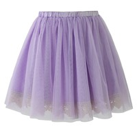 Fairy Tulle Skirt with Lace Trimming in Purple Purple S/M
