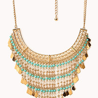 Free Spirit Beaded Fringe Necklace
