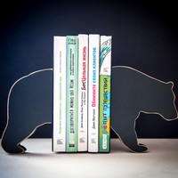 Bookends - Bear- special wooden edition of our popular bookends will hold your favorite books