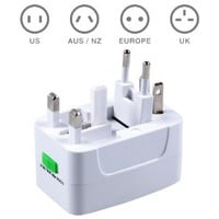 MAXAH Surge Protector All in One Universal International Travel Wall Charger AC Power Adapter adaptor Converter for AU UK US EU Plug