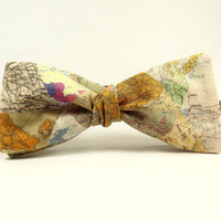 world map bowtie, map bowtie, maps of the world, international bowtie, world traveler gift, geography bowtie, teacher bowtie, travel bowtie,