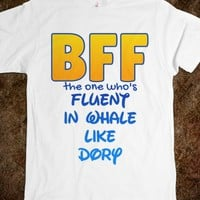 BFF THE ONE WHO'S FLUENT IN WHALE T-SHIRT - CARTOON CHARACTER SERIES (IDB121729)