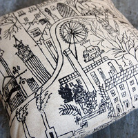 London River Thames Cushion by London Kills Me