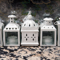 White Lanterns - Set of 5