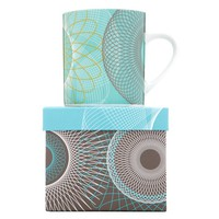 Teal Spiral Mug - New Items - Blue Sun Tree