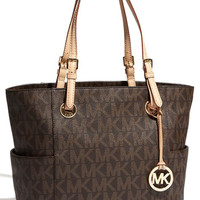 MICHAEL Michael Kors 'Medium Jet Set Signature' Tote