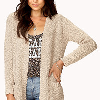 Cozy Marled Open-Front Cardigan