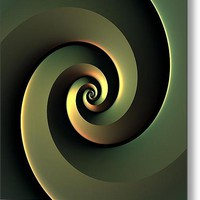 Dark Spiral - 36 x 36 inch Metal Print By Lyle Hatch @ Fine Art America