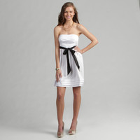 JFW Junior's Black-ribbon Accented Empire-waistline Party Dress